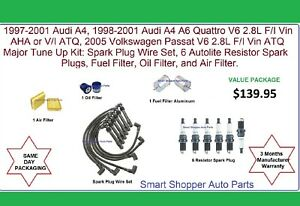 Audi A4 A6 Quattro, Volkswagen Passat Tune Up Kit Air Oil Fuel Filter, Spark Plu