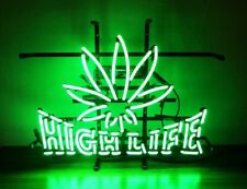 "New High Life Leaf Neon Sign Beer Bar Pub Gift Light 20""x16"""