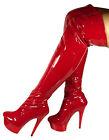 Erogance Charol Plataforma Tacones Mujer Botas Sobre La Rodilla Talla 37-10709