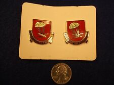 "#29, 24 US ARMY PINS - ""FIRMITER ET FIDELITER"" (377th FIELD ARTILLERY REGIMENT)"