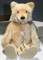 "Steiff Blond 1930 Replica 18"" Mohair Jointed Teddy Bear 0176/42 MINT"