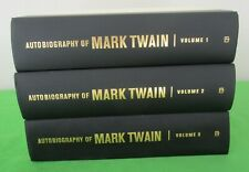AUTOBIOGRAPHY OF MARK TWAIN COMPLETE 3 VOLUME HARDCOVER SET