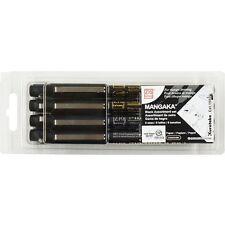 NEW Kuretake ZIG Marker Pen for Manga Cartoonist Mangaka 8 pieces set BLACK8V