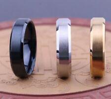 100 Silver Gold Black Plain Band Stainless Steel Rings Fingerring Wedding ring