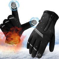 Men Windproof Winter Gloves Warm Waterproof Touch Screen Motorcycle Ski Mittens