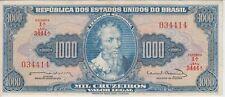 BRAZIL BANKNOTE P#173c-4414 1.000 1,000 1000 CRUZEIROS SERIE 3444 EXTREMELY FINE