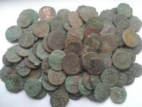 Lot 3 genuine Ancient Roman coins not cleaned Constantine, Licinius, Valentinian