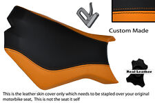 BLACK & ORANGE CUSTOM FITS KTM SUPERDUKE 990 R 07-12 FRONT RIDER SEAT COVER
