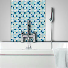 BLUE Glass Mosaic Tiles Bathrooms Kitchens Wall Floor FREE P&P On Samples C101