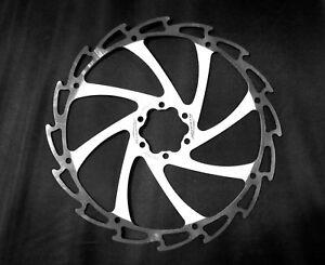 Alligator Windcutter WHITE Mountain Bike Disc Brake Rotor 180mm c115g + bolts