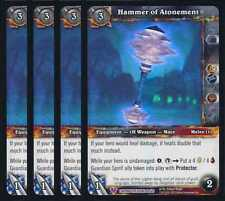 4x Hammer of Atonement Caverns of Time Treasure Epic 66 WoW TCG World Warcraft