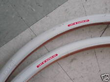 PAIR 700 FIXED GEAR TRACK TIRE 700 x 23 700X23 WHITE