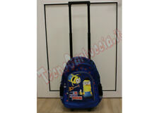 Zaino Trolley Scuola Elementare originale Minion Bimbo Cartella Blu con Maniglia