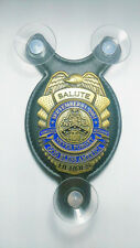 United We Stand, Never forget NYPD Salute our Heroes police car shield-FOP -PBA