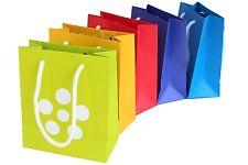5 papier sacs de caractères de remerciement en 5 couleurs (geschenktüte, cadeau sac)