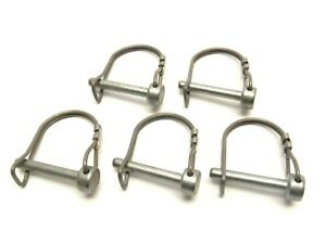 """1/4"""" x 1-5/8"""" D Type Double Wire Snap Safety Pin LOT OF 5"""