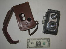 Vintage Ciro-flex Model C Film Camera w/ Rapax Wollensak 85mm Lens +Leather Case