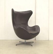 Orig. ARNE Jacobsen EGG Chair LEDER // Chocolat RARE // FRITZ Hansen Sessel 70er