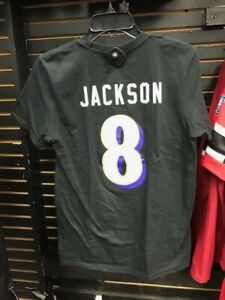 LAMAR JACKSON BALTIMORE RAVENS PLAYOFF T-SHIRT NAME AND NUMBER SIZE SMALL