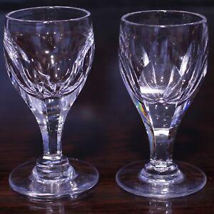 "Pair Thomas Webb ROYAL YACHT Design Liqueur Glasses, 3.5"""