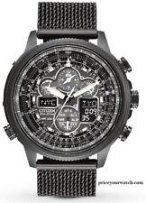 Citizen Men's Navihawk A-T Black Ion Plated Perpetual Calendar Watch JY8037-50E