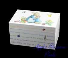 NEW Peter Rabbit Musical Keepsake Jewelry Chest Beethoven's Für Elise Music Box