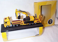 Mercedes Actros Semi Low Loader JCB & JCB Tracked Excavator 1-76 scale 76MB010
