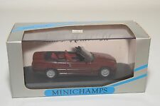 . MINICHAMPS BMW E36 3ER 3 SERIES CABRIOLET 1992 MAROON MINT BOXED RARE SELTEN