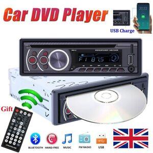 Single 1 Din Car Radio Stereo DVD CD AUX-IN MP3 Player USB FM TF Bluetooth 60W