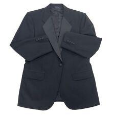 Burberry Saks Fifth Ave Tuxedo Suit Jacket Mens Size 40R Black Wool Burberrys