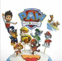 PAW PATROL SET OF 9  Cupcake Birthday Cake Topper Party Supplies Decoration UK