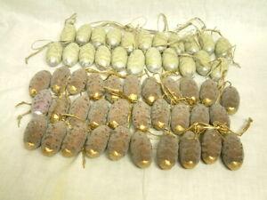 53 mal Keramik Zapfen Baumschmuck weihnachten Christbaum Tannenzapfen Gezuckert