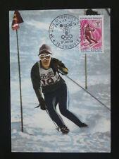 olympic games Grenoble 1968 skiing maximum card 46507
