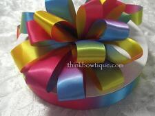 Rainbow ribbon 25mm double sided satin ~ 90 metre roll