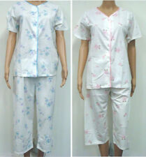 Polyester Pajama Sets Machine Washable Floral Sleepwear for Women