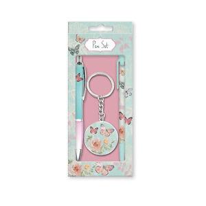 Womens/Girls Ballpoint Pen Gift Box With Pencil & Keyring