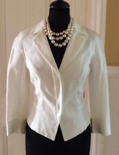 LK Bennett Ladies Occasion Jacket Size 6, Cream, Ivory, Fitted , Waist Length