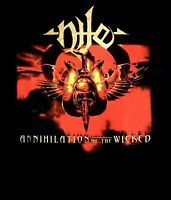 NILE cd cvr ANNIHILATION OF THE WICKED Official SHIRT XXL 2X New OOP