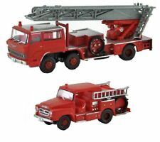 TOMIX N Scale 1/150 TOMYTEC The Truck Collection 2-Car Set C Fire Engine F/S NEW