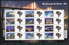 Brasilien Brazil 2009 Rio Grande do Norte Tourismus Kleinbogen 3639-50 MNH