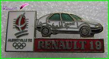 Pin's Jo Jeux Olympique Albertville 92 RENAULT Voiture Renault 19 #1253