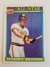 "1991 Topps 40 Years of Baseball #401 ""Barry Bonds"" Pittsburgh Pirates NM"