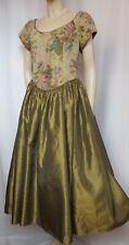 Laura Ashley Cocktailkleid 38 40 Brokat gold Rosen Theater vintage Abendkleid