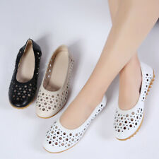 Womens Hollow out Mesh Breathable Slip on Loafers Casual Shoes Pumps Gomminos SZ
