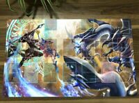 Hot Yu-Gi-Oh Playmat Blue-Eyes White Dragon Dark Magician TCG CCG OCG Yugioh Mat