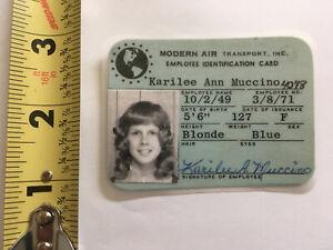 VTG RARE Modern Airlines Crew Stewardess Employee Badge 1960s