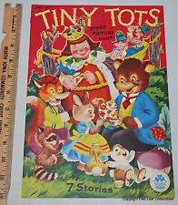 Tiny Tots Nursery Story Picture Book 7 Stories Merrill Co. 1949 3405-10