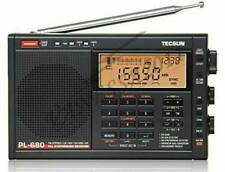 New TECSUN PL-680 PLL FM/Stereo MW LW SW SSB AIR Band BLACK