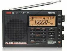 New TECSUN PL-680 PLL FM/Stereo MW LW SW SSB AIR Band BLACK