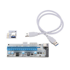 USB 3.0 PCI-E Express 1x To 16x Extender Riser Card Adapter 4/6PIN Power Cable